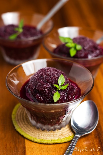 blueberry limoncello sorbet