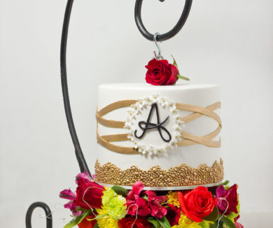 Hanging birthday cake